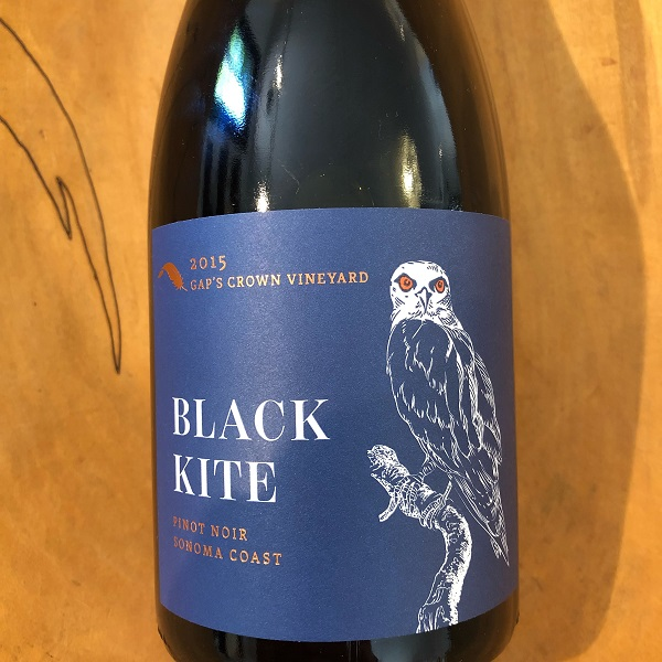 Black Kite  'Gap's Crown Vineyard' Pinot Noir 2015 - K. Laz Wine Collection