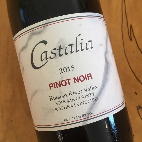 Castalia 'Rochioli Vineyard' Pinot Noir 2015  Russian River Valley - K. Laz Wine Collection