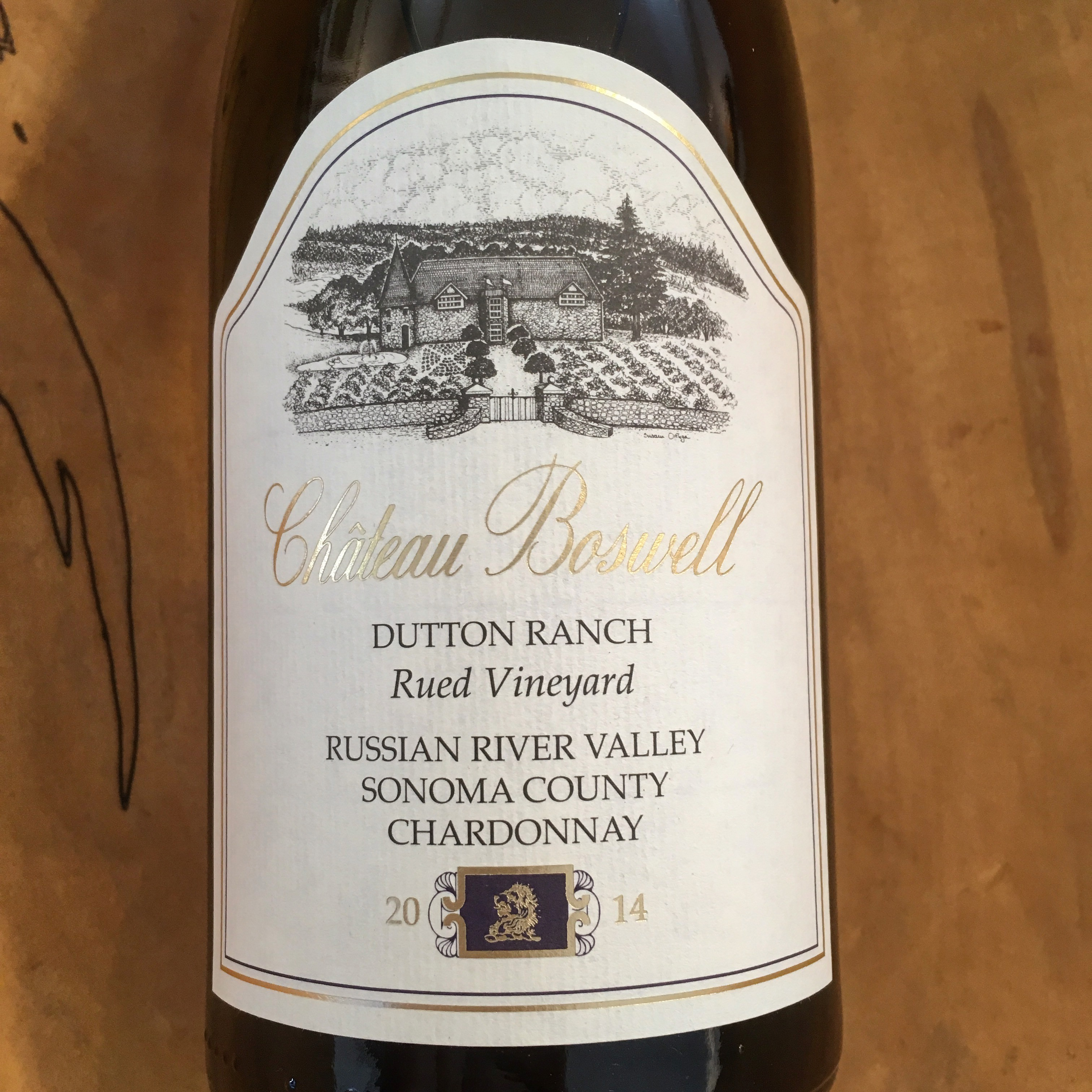 Chateau Boswell Rued Vineyard Chardonnay 2014 Russian River Valley - K. Laz Wine Collection