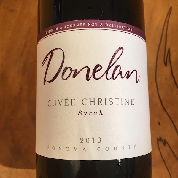 Donelan 'Cuvee Christine' Syrah 2013  Sonoma Valley  - K. Laz Wine Collection