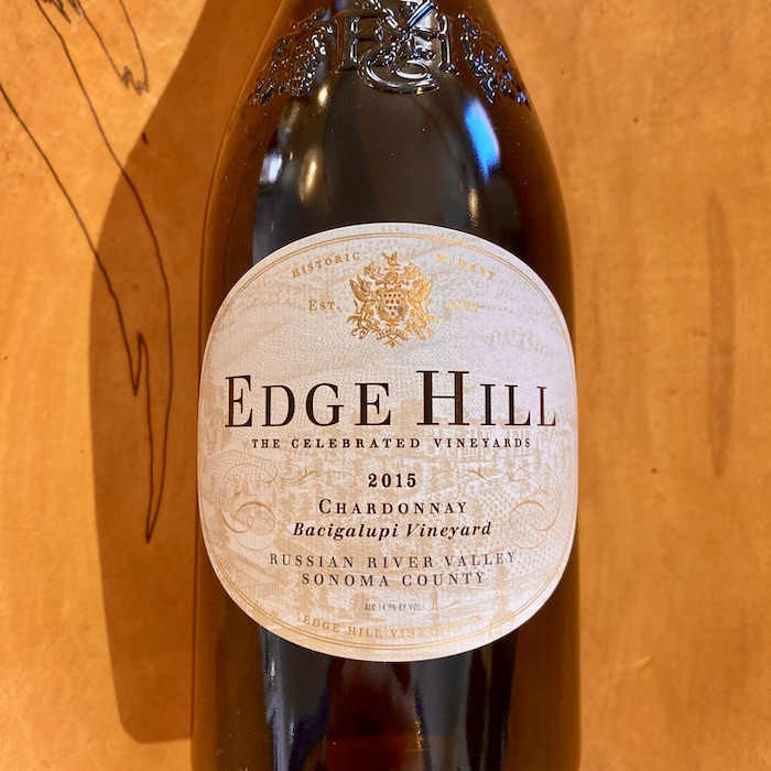 Edge Hill  Bacigalupi Vineyard Chardonnay 2015 - K. Laz Wine Collection