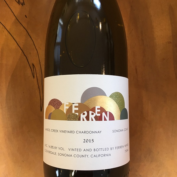 Ferren 'Lancel Creek' Chardonnay 2015  Sonoma Coast - K. Laz Wine Collection