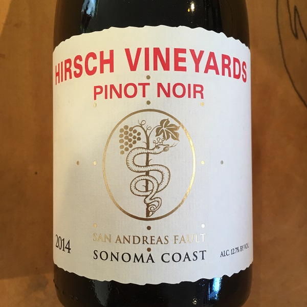 Hirsch 'San Andreas Fault' Pinot Noir 2014  Fort Ross/Seaview - K. Laz Wine Collection