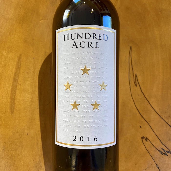 Hundred Acre 'Kayli Morgan' Cabernet Sauvignon 2016 - K. Laz Wine Collection