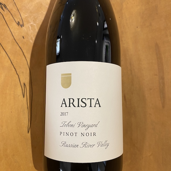 Arista 'Toboni Vineyard' Pinot Noir 2017 - K. Laz Wine Collection