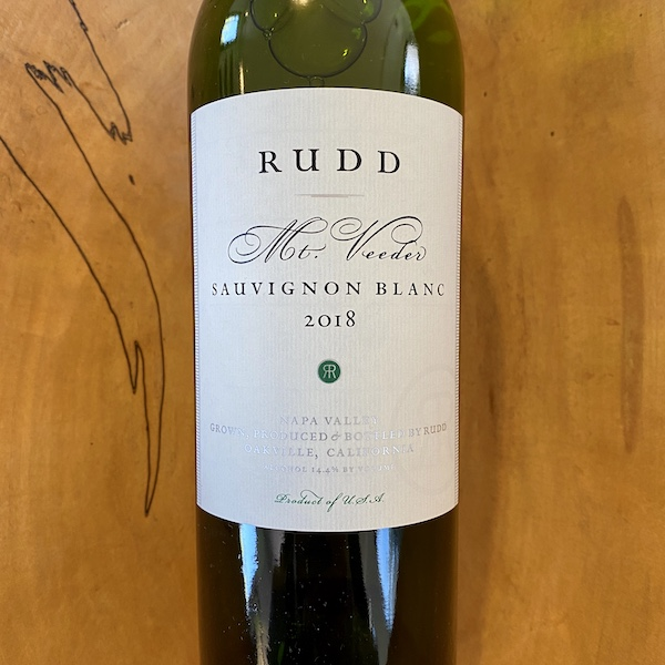 Rudd Mt. Veeder Estate Sauvignon Blanc 2018 - K. Laz Wine Collection