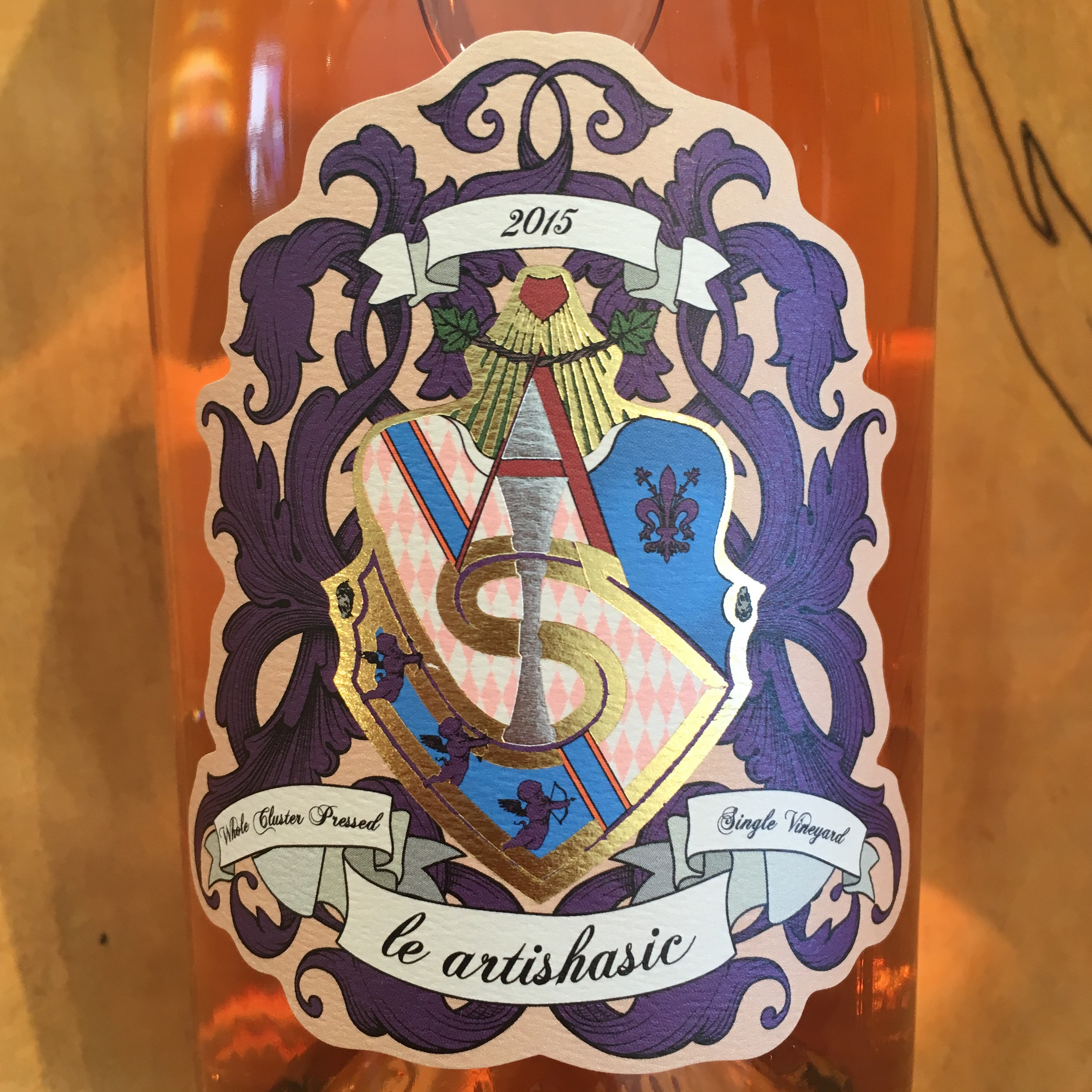 Le Artishasic Rose 2015  Amador County - K. Laz Wine Collection