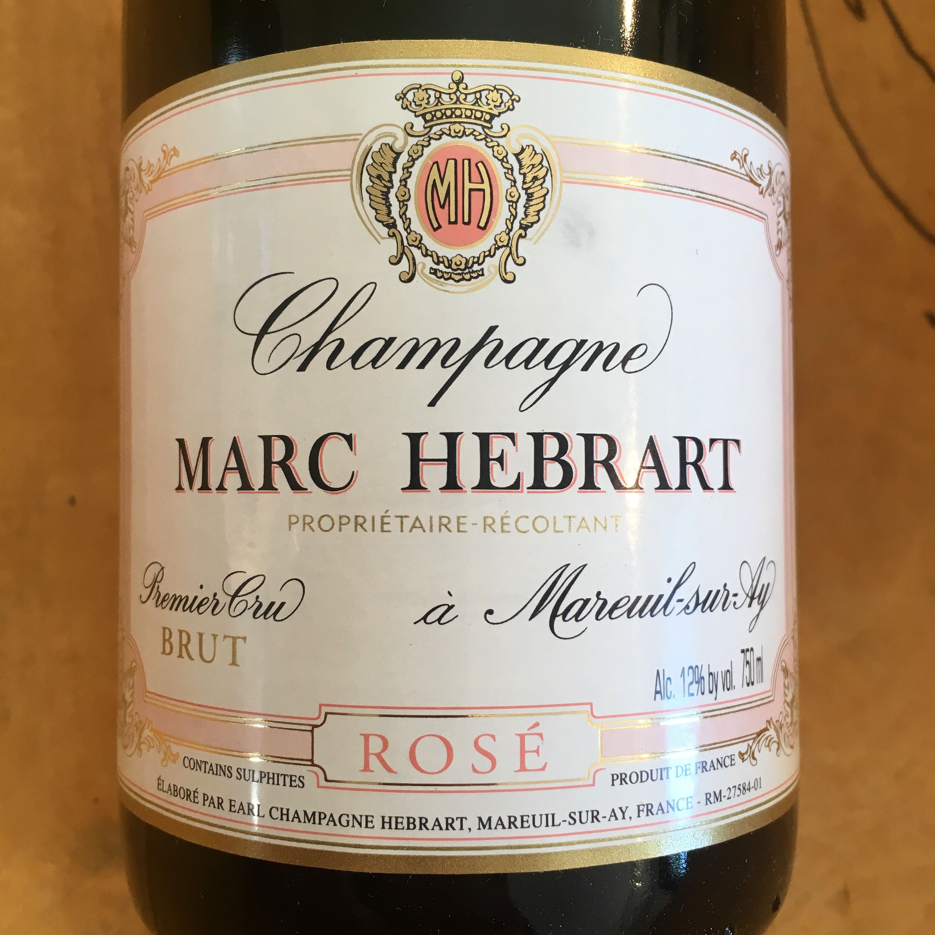 Marc Hebrart Brut Rose NV Premier Cru - K. Laz Wine Collection