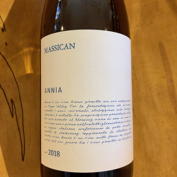 Massican 'Annia' White 2018 - K. Laz Wine Collection