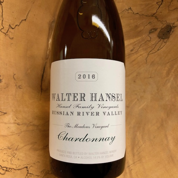 Walter Hansel Winery 'The Meadows' Chardonnay 2016 - K. Laz Wine Collection