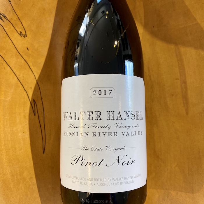 Walter Hansel Estate Pinot Noir 2017 - K. Laz Wine Collection