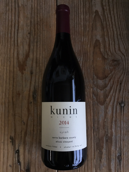 Kunin Syrah Alisos Vineyard 2014  - Les Marchands Restaurant & Wine Shop
