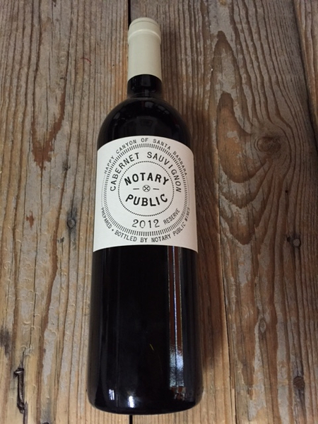 Notary Public Cabernet Sauvignon Happy Canyon Reserve 2012  - Les Marchands Restaurant & Wine Shop