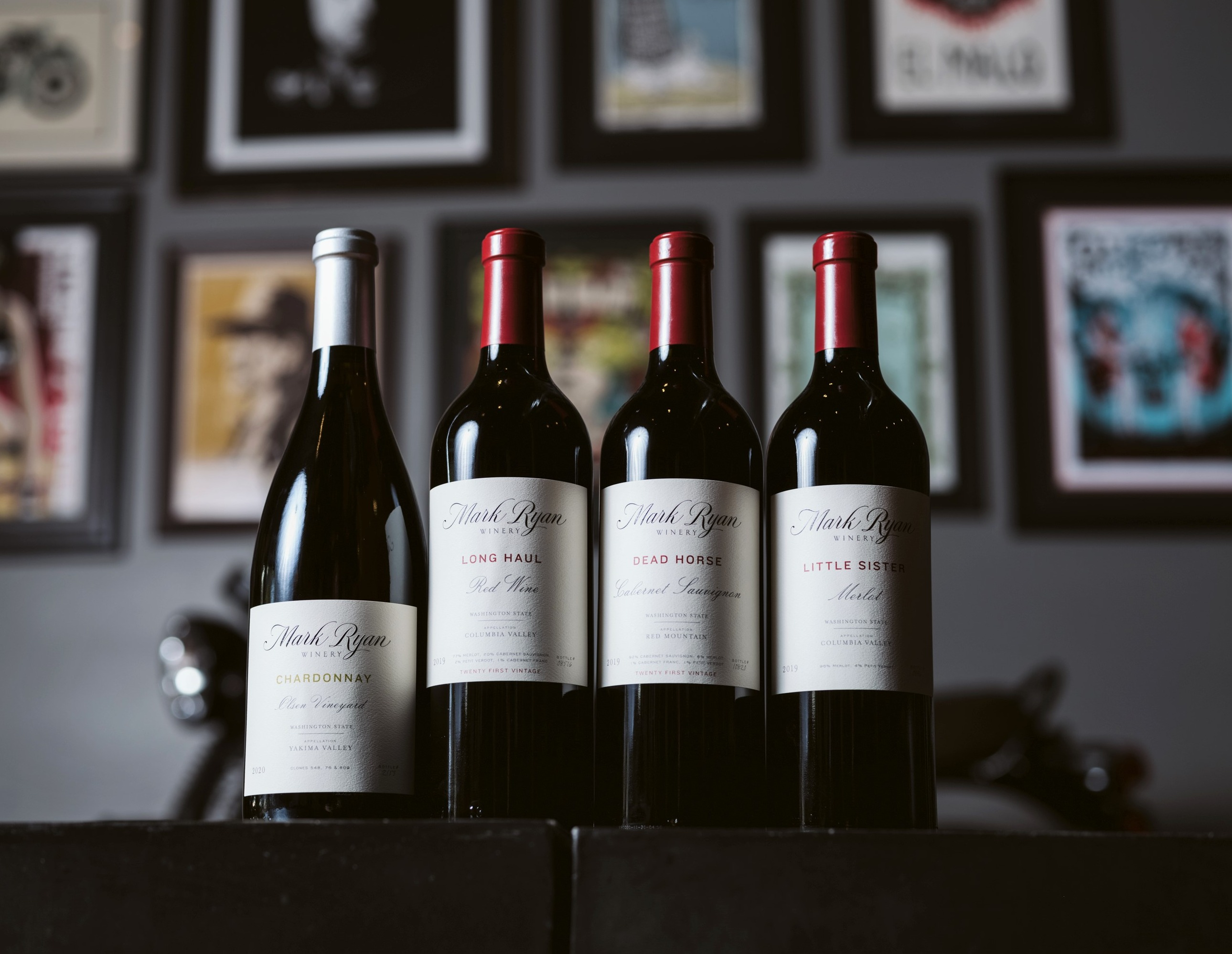 Lineup of Mark Ryan wines