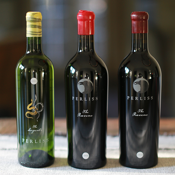 2 RAVENS + 1 SERPENTS- 3 Pack Vertical Cabernet Sauvignon & Sémillon - Perliss Estate Vineyards