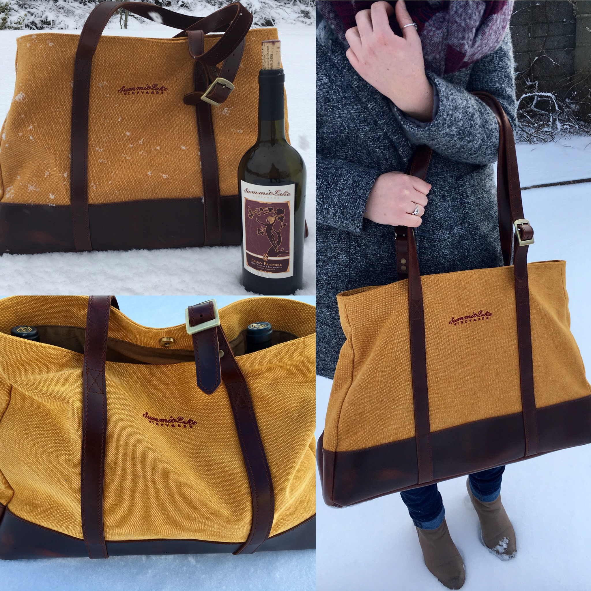 SLV Wine Tote  - Summit Lake Vineyards & Winery