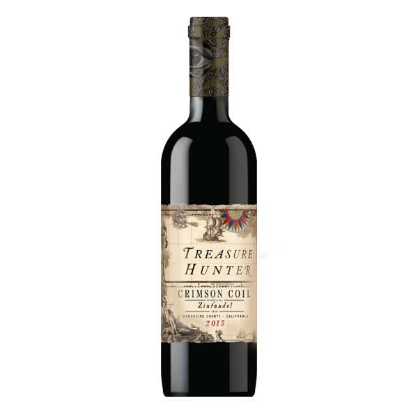Crimson Coil 2015 Zinfandel - Mendocino  - The Authentic 3 Finger Wine Company