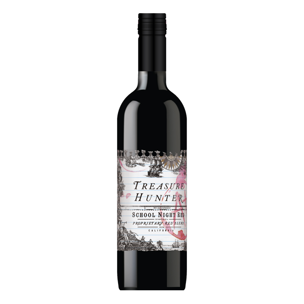 School Night Red 2018 Red Blend - California - The Authentic 3 Finger Wine Company