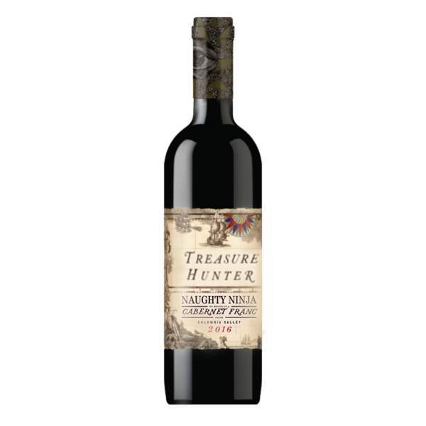 NAUGHTY NINJA  2016 Cabernet Franc - The Authentic 3 Finger Wine Company