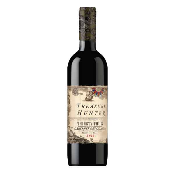 Thirsty Thug 2016 Walla Walla, WA - Cabernet Sauvignon - The Authentic 3 Finger Wine Company