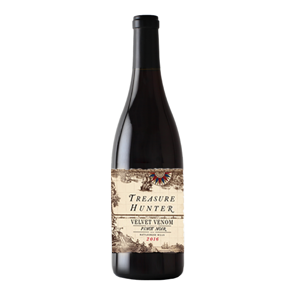 Velvet Venom 2016 Pinot Noir - Rattlesnake Hills - The Authentic 3 Finger Wine Company