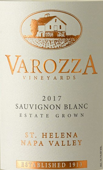 2017 SAUVIGNON BLANC  - Varozza Vineyards
