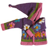 Purple Flower Garden Sweater