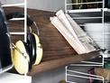 String tidskriftshållare trä