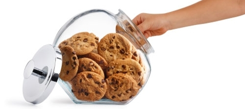 Caught!  Hand in the cookie jar