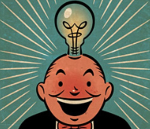 Man with lightbulb