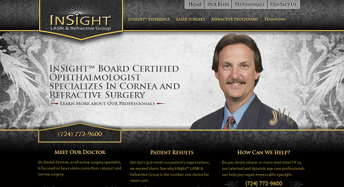 Website for Insight LASIK & Refractive Group