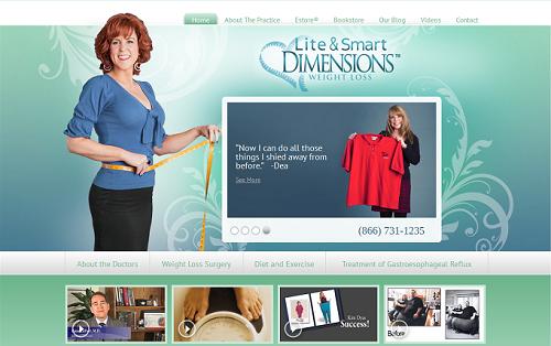 Website for Lite & Smart Dimensions