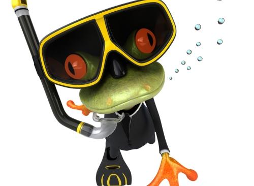 Deep diving frog