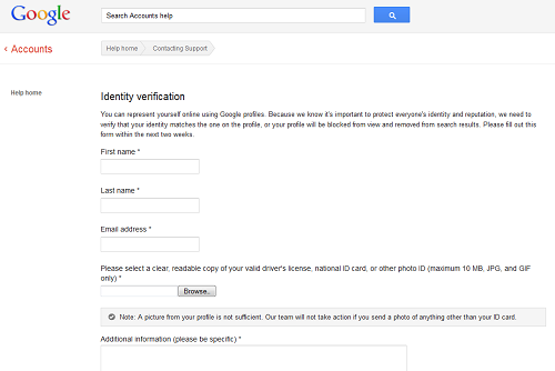 Google Identity Verification