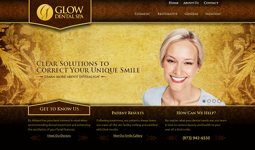 Glow Dental Spa Website