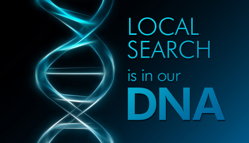 SEO Is in Our DNA text next to DNA strand