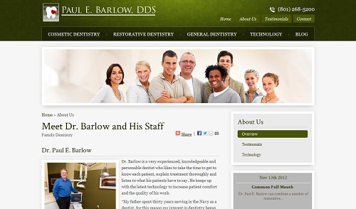 Paul E. Barlow, DDS Website