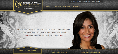 Smiles By Myles website by Einstein Medical