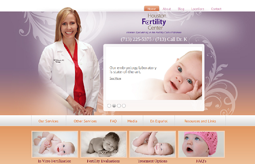 The Einstein Medical website for Houston Fertility Center