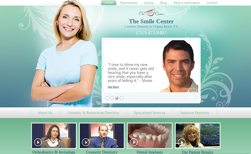 The new Einstein Medical website for The Smile Center in Virginia Beach