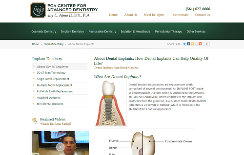 Einstein Medical website for Dr. Jay Ajmo's dental practice