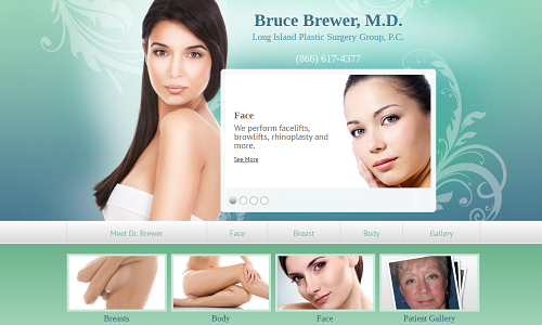 Dr. Bruce Brewer's New Einstein Medical Plastic Surgery Website