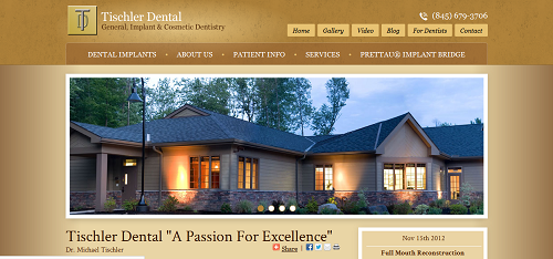 Einstein Medical website for Tischler Dental