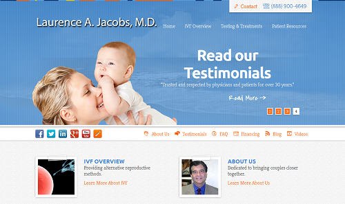 New Einstein Medical website for Laurence A. Jacobs, M.D.