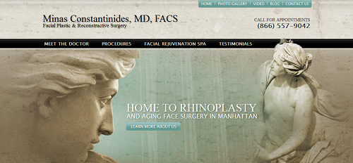 The new Einstein Medical website of Minas Constantinides