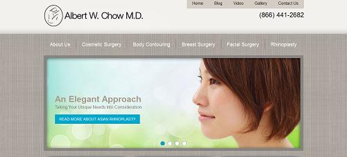 The new Einstein Medical website of plastic surgeon Albert Chow