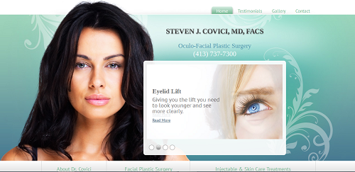 Dr. Steven J. Covici's new Einstein Medical plastic surgery website