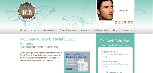 New Einstein Medical Website for Davis Facial Plastic Surgery