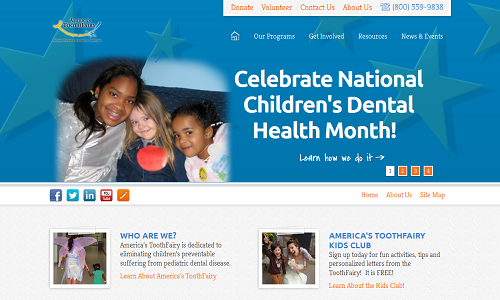 The Einstein Medical website for National Children's Oral Health Foundation