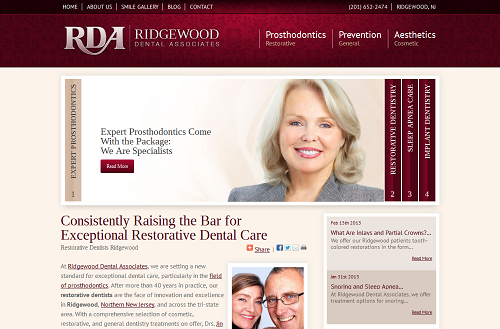Einstein Medical website for Ridgewood Dental Associates